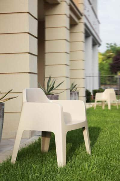 Plus terrasstoel beige