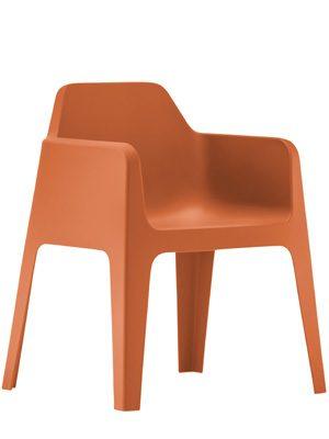 Plus terrasstoel oranje