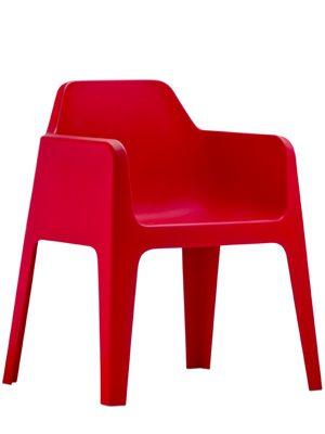 Plus terrasstoel rood