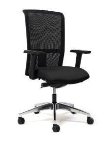 Bureaustoel met netbespanning in zwarte kleur