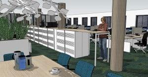 Kantoorinrichting Friesland: informeel overleg-opbergen