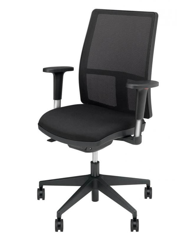 Bureaustoel zwart met armleggers