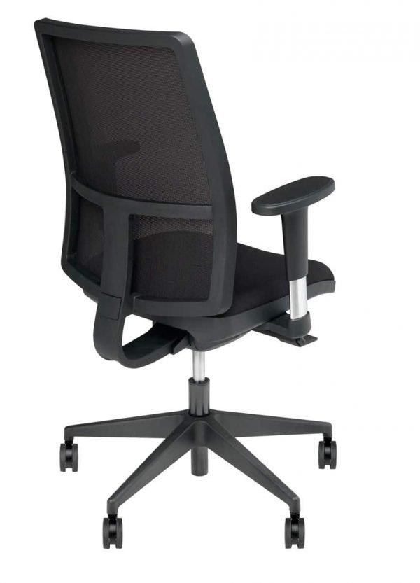 Bureaustoel zwart met armleggers_online kopen