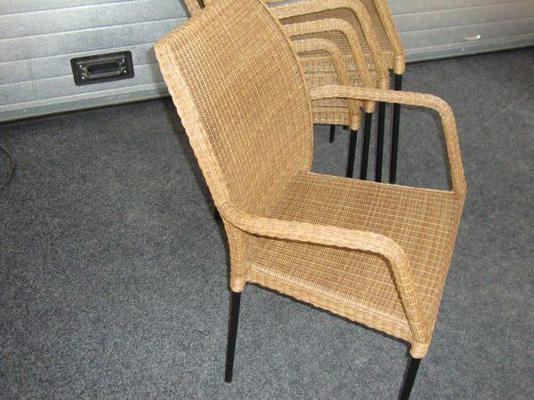 Stapelbare terras stoel cedar brown