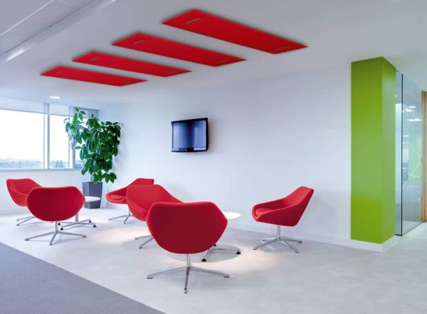 Akoestische projectinrichting: Panelen voor plafond