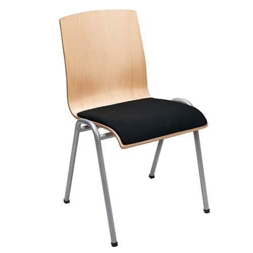 Houten kerkstoel: Style met gestoffeerde zitting