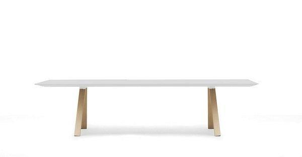 Arki design tafel wit volkern blad
