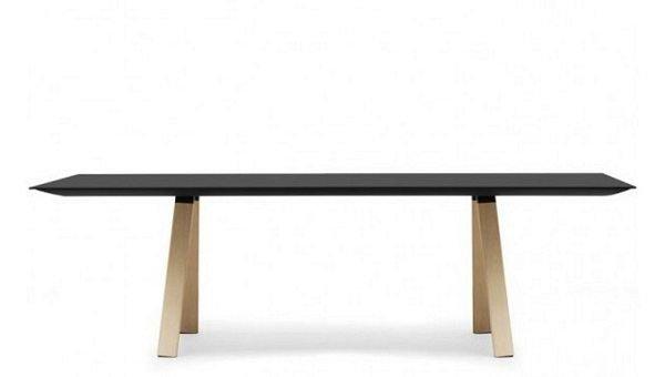 Arki design tafel zwart volkern_eiken pootstel