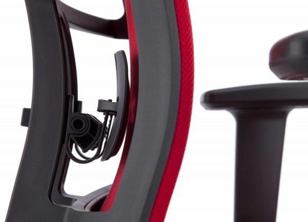 Kohl bureaustoel Anteo Rood achterkant detail