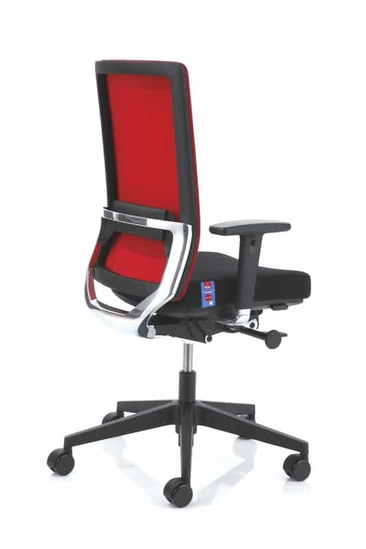 Anteo Alu bureaustoel rood en zwart