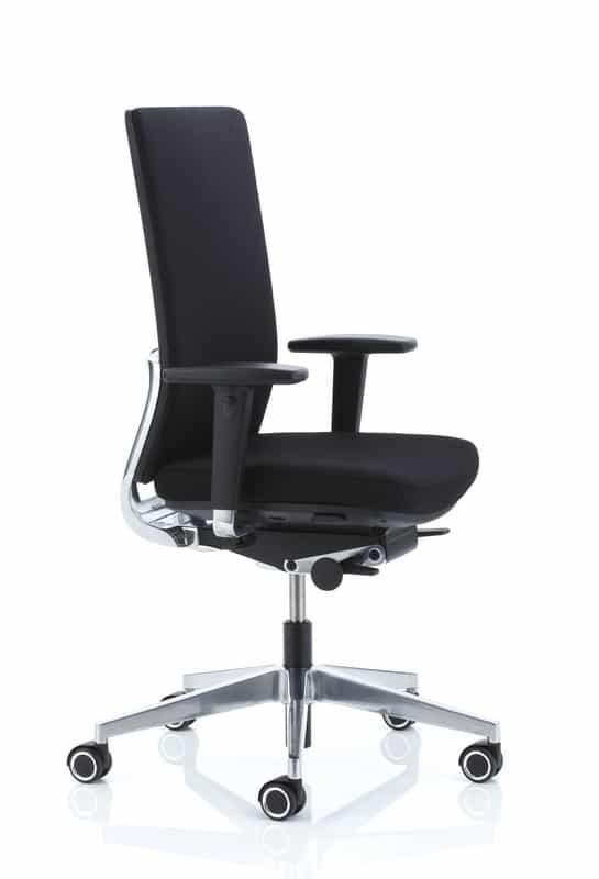 Anteo alu bureaustoel zwart