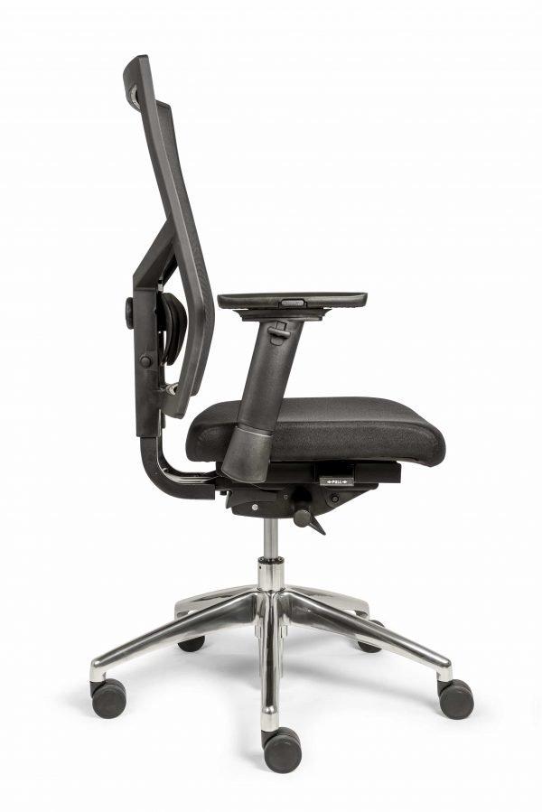 Ergonomische bureaustoel (BM35 Edition Netwave) zij aanzicht