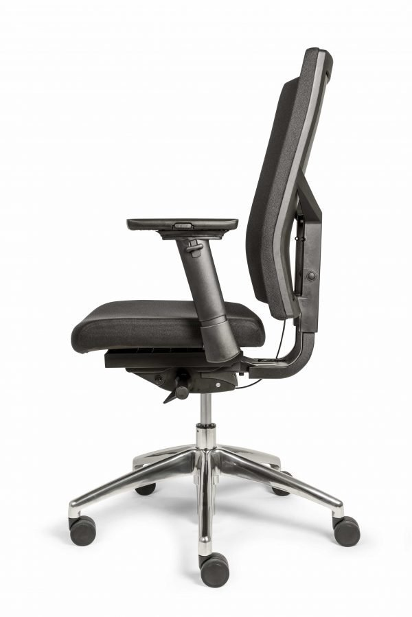 Ergonomische bureaustoel (BM35 Edition Comfort uitvoering) zij aanzicht