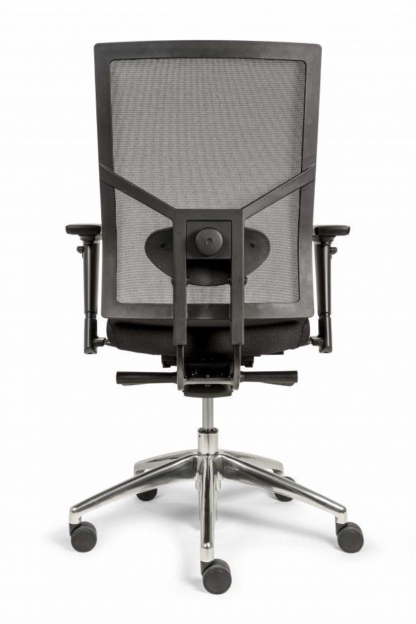 Ergonomische bureaustoel (BM35 Edition Netwave) achter aanzicht