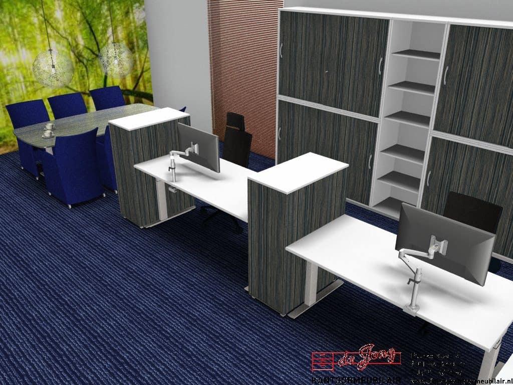 Opstelling kantoorinrichting Sumar