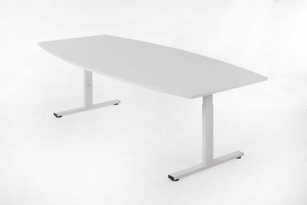 Ton vormige tafel geheel wit