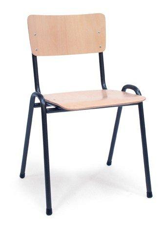 Houten Kantine-/Schoolstoel