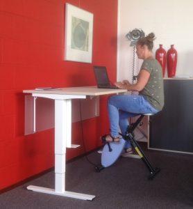 Folkje test de Deskbike