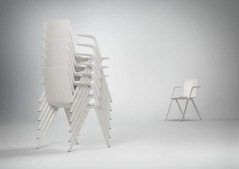 A chair Brunner stapelbaar