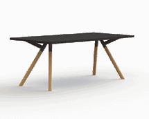 bridge vergadertafel massief hout